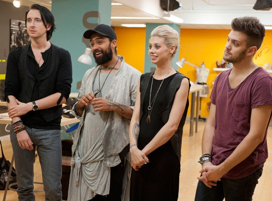 Dmitry Sholokhov, Fabio Costa, Melissa Fleis, Christopher Palu, Project Runway