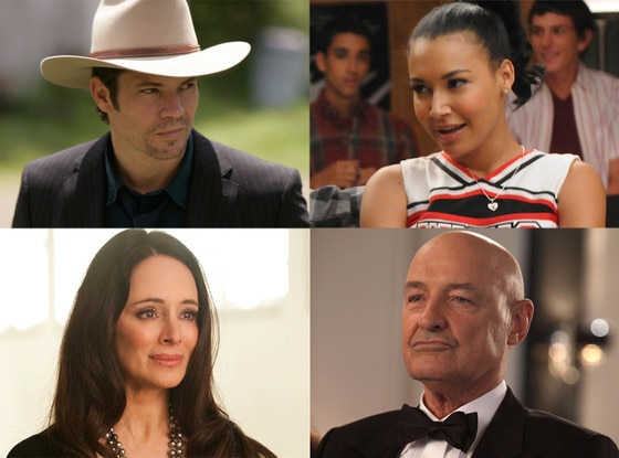 Naya Rivera, Glee Madeline Stowe, Revenge Timothy Olyphant, Justified Terry O'Quinn, 666 Park