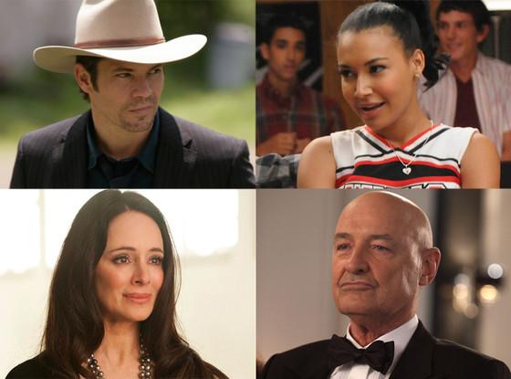 Naya Rivera, Glee Madeline Stowe, Revenge Timothy Olyphant, Justified Terry O'Quinn, 666 Park