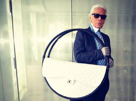 Karl Lagerfeld, Twit Pic