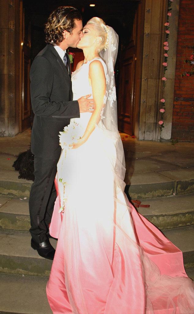 Gwen Stefani, Gavin Rossdale, Wedding, 2002