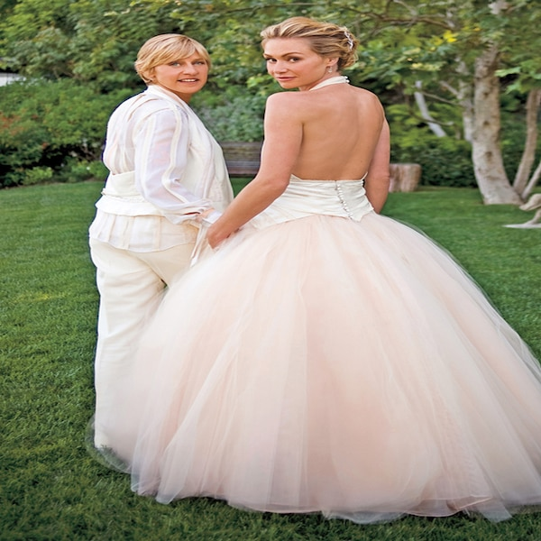 Portia De Rossi Wedding Gown: Portia De Rossi From Celeb Wedding Dresses
