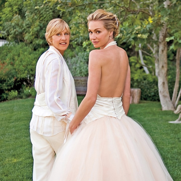 Portia de Rossi from Celeb Wedding Dresses | E! News