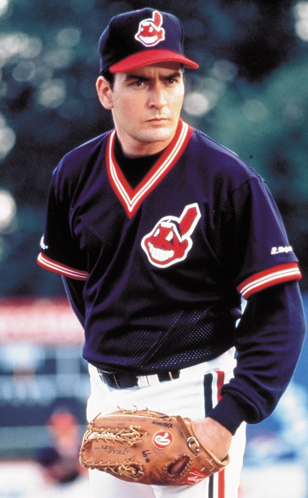 Charlie Sheen in Major League from Celebrity Baseball All ...