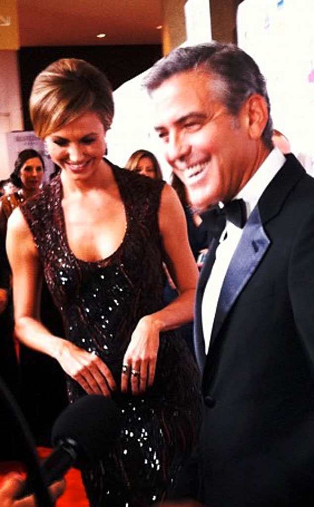 Stacy Keibler, George Clooney, Twit Pic