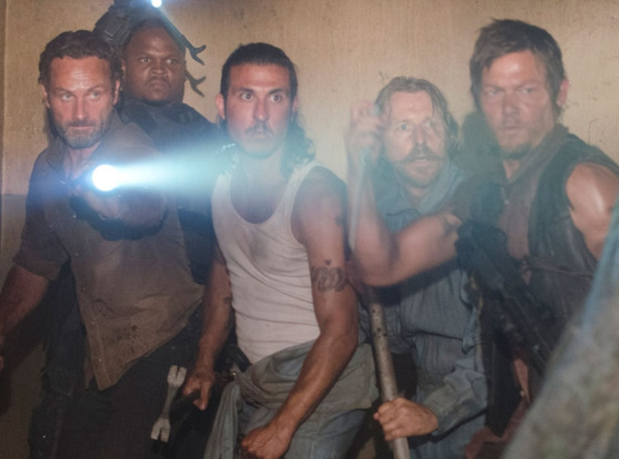 Andrew Lincoln, Robert Iron Singleton, Nick Gomez, Lew Temple, Norman Reedus, The Walking Dead