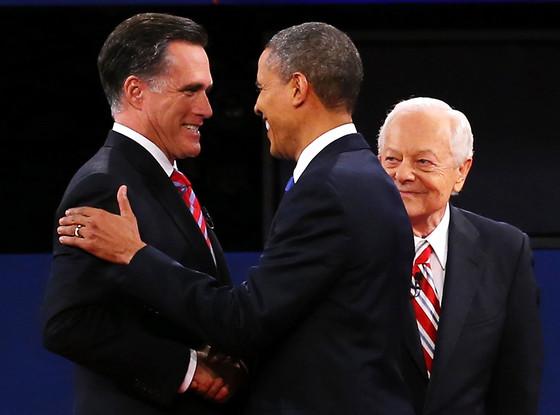 Mitt Romney, President Barack Obama, Bob Schieffer