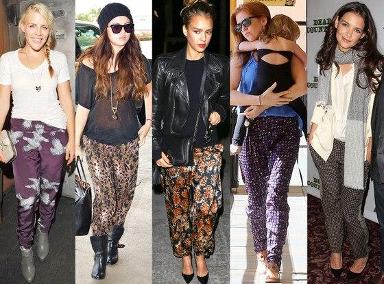 Pajama Trend, Isla Fisher, Jessica Alba, Katie Holmes, Busy Phillips, Selena Gomez
