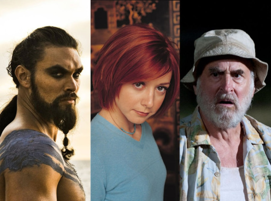Jason Momoa, Game of Thrones, Alyson Hannigan, Buffy the Vampire Slayer, Jeffrey DeMunn, The Walking Dead