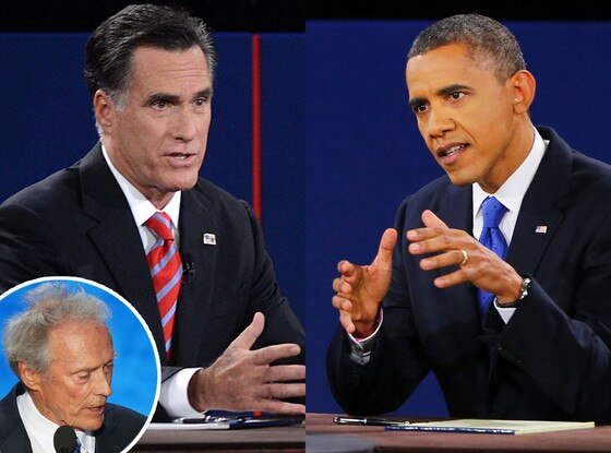 Mitt Romney, President Barack Obama, Clint Eastwood