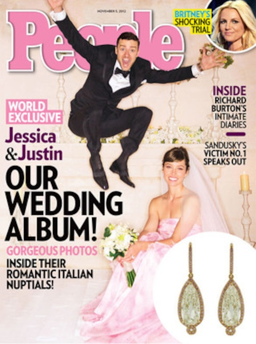 Justin Timberlake, Jessica Biel, People Magazine, Earrings