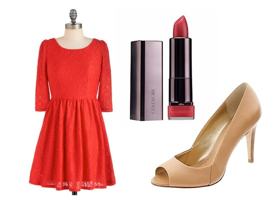 Lipstick, Shoes, Dress, Taylor Swift