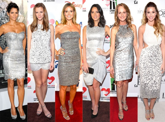 Silver: Brooklyn Decker, Halle Berry, Heidi Klum, Helen Hunt, Olivia Munn, Whitney Port