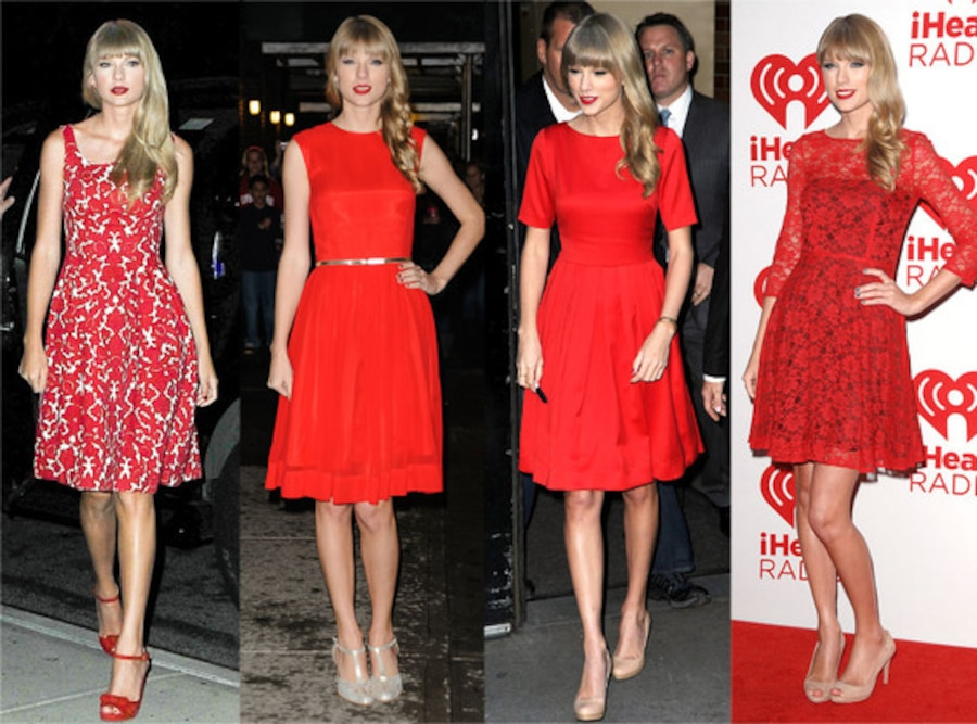 Taylor Swift, Red Dress Trend