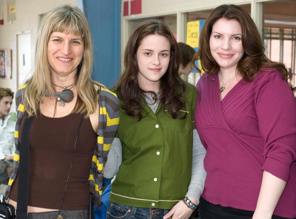 Catherine Hardwicke, Kristen Stewart, Stephenie Meyer, Twilight Set