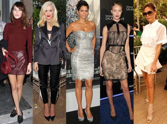 Alexa Chung, Gwen Stefani, Rosie Huntington-Whiteley, Halle Berry, Victoria Beckham