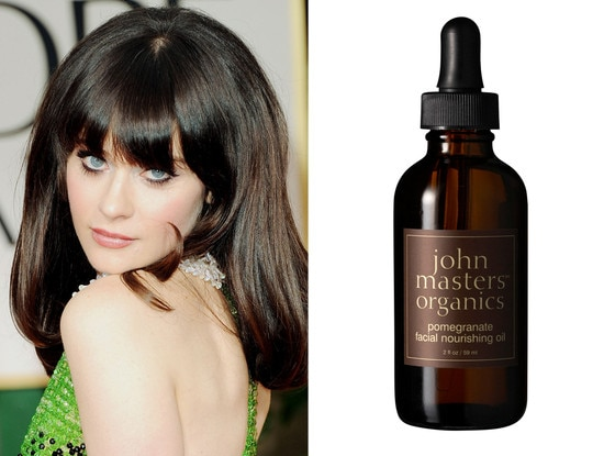 Zooey Deschanel, Pomegranate Facial Oil