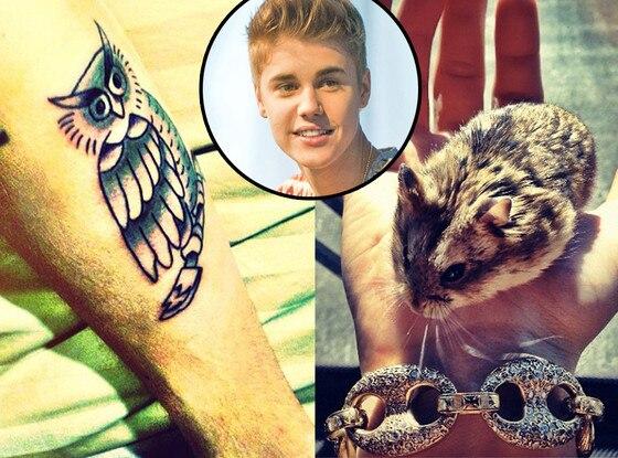 Justin Bieber Tattoo, Hamster