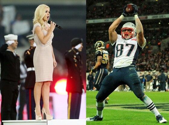 Katherine Jenkins, Rob Gronkowski, New England Patriots