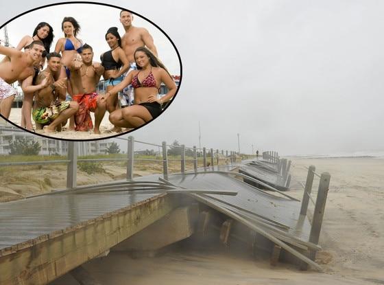 Jersey Shore Cast, Hurricane Sandy