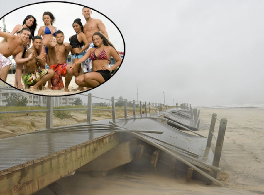 Jersey Shore Cast, Hurricane Sandy