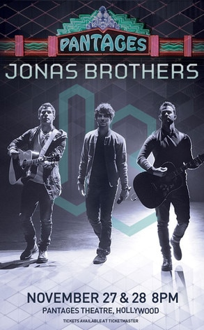 Jonas Brothers, Pantages Poster