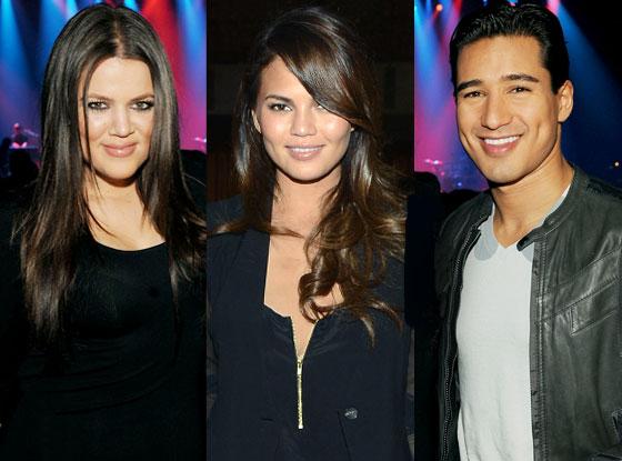 Chrissy Teigen, Mario Lopez, Khloe Kardashian