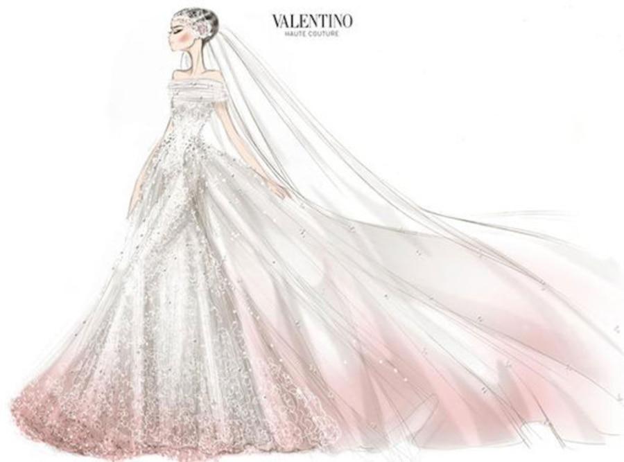 Anne Hathaway Valentino Wedding Dress