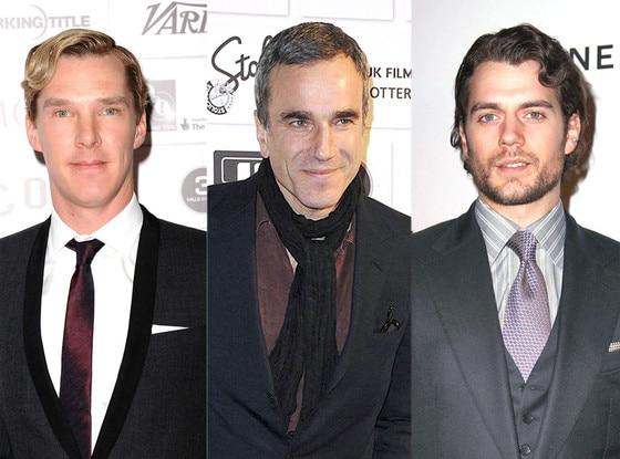 Benedict Cumberbatch, Henry Cavill, Daniel Day Lewis