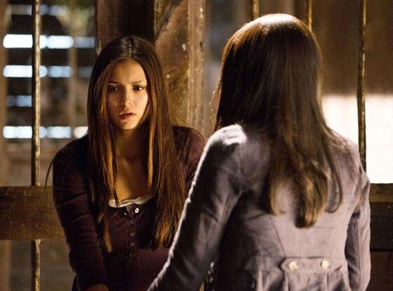 Nina Dobrev, Kat Graham, The Vampire Diaries