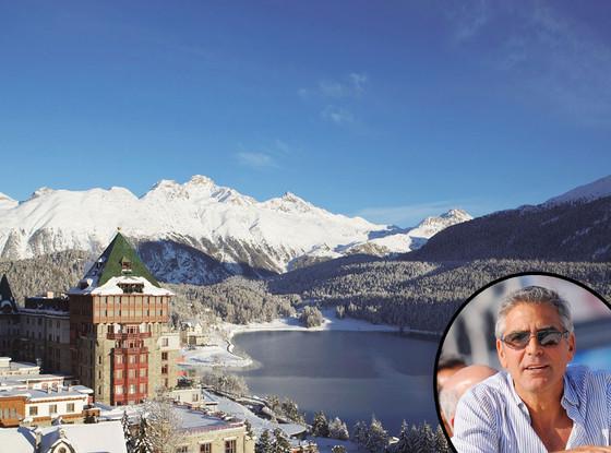 Badrutt's Palace, St. Moritz, George Clooney