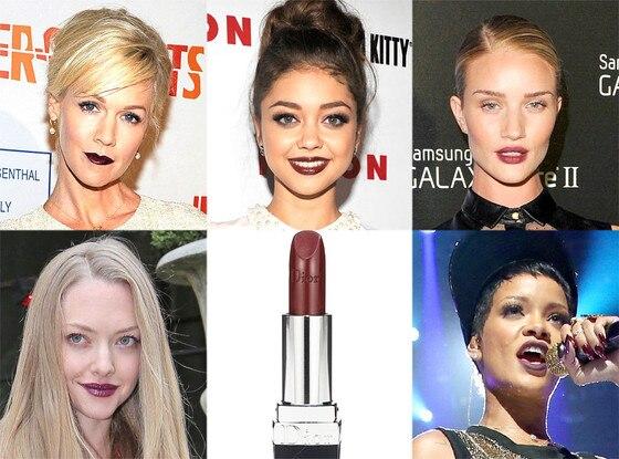 Wine Lips: Jennie Garth, Sarah Hyland, Amanda Seyfried, Rosie, Rihanna