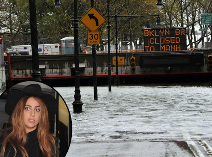 Lady Gaga, Hurricane Sandy