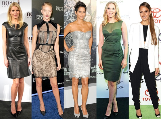 Gwyneth Paltrow, Rosie Huntington-Whitely, Halle Berry, Scarlett Johansson, Jessica Alba