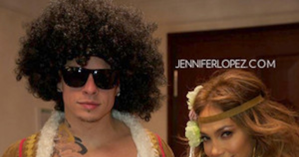 Jennifer Lopez And Casper Smart Promote Peace And Love In