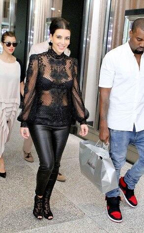 Kim Kardashian, Kayne West, Kourtney Kardashian and Scott Disick
