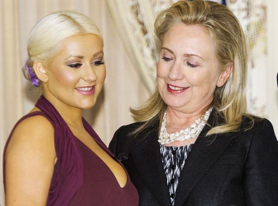 Christina Aguilera, Hillary Clinton