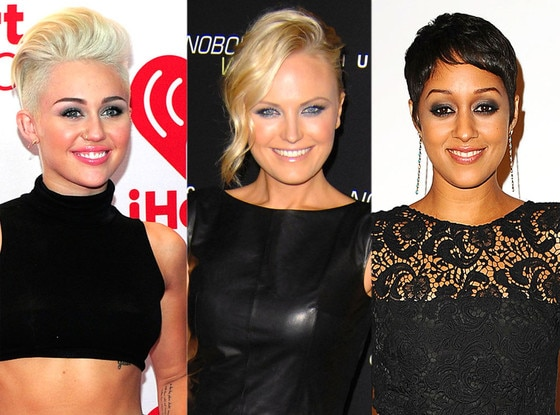 Tia Mowry, Miley Cyrus, Malin Akerman, Punk Rock Hair