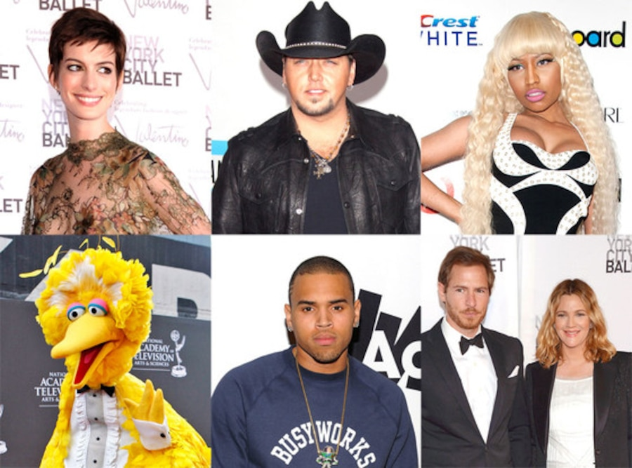 Week in Review: Chris Brown, Big Bird, Nicki Minaj, Jason Aldean, Anne Hathaway, Drew Barrymore
