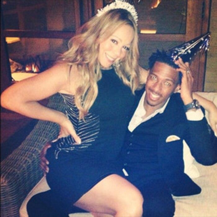 Mariah Carey, Nick Cannon, Twit Pic