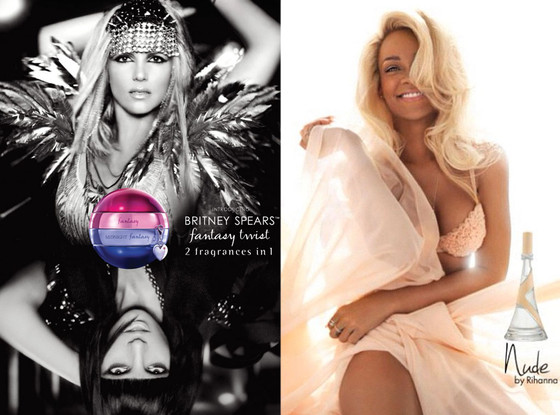 Britney Spears, Fantasy Twist Ad, Rihanna, Nude Perfume Ad