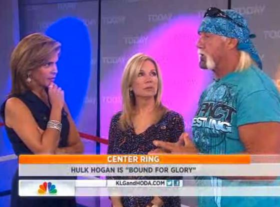 Hulk Hogan, Hoda Kotb, Kathie Lee Gifford, Today Show