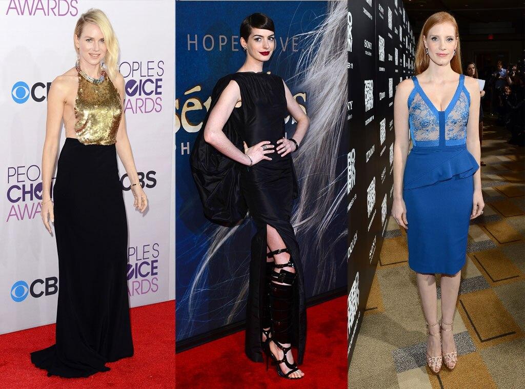 Naomi Watts, Anne Hathaway, Jessica Chastain