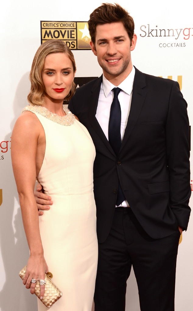 Emily Blunt and her spouse John Krasinski