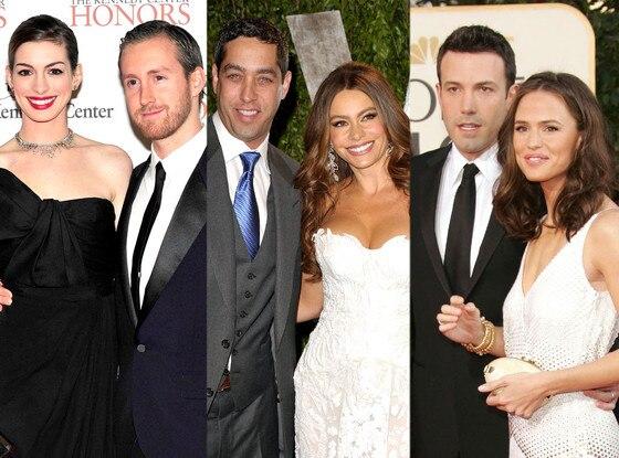 Adam Shulman, Anne Hathaway, Sofia Vergara, Nick Loeb, Jennifer Garner, Ben Affleck