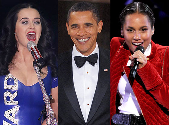 Katy Perry, Barack Obama, Alicia Keys