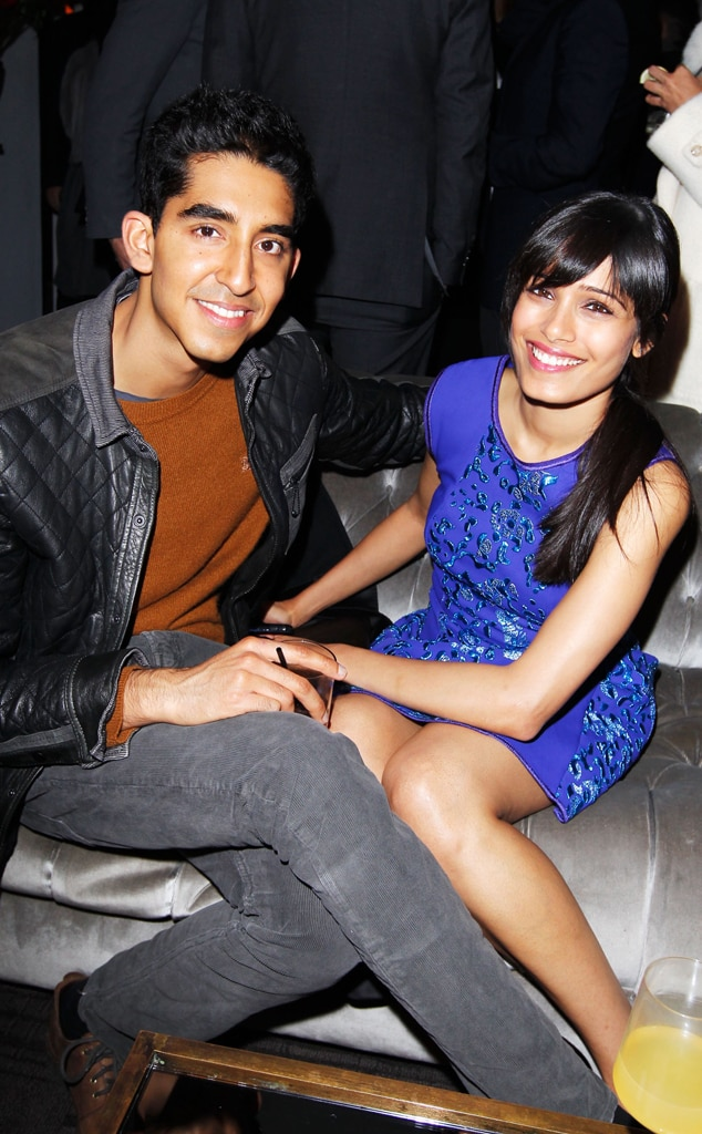 Dev Patel, Freida Pinto, W Magazine Party