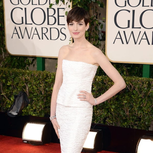 Anne Hathaway From 2013 Golden Globes: Arrivals