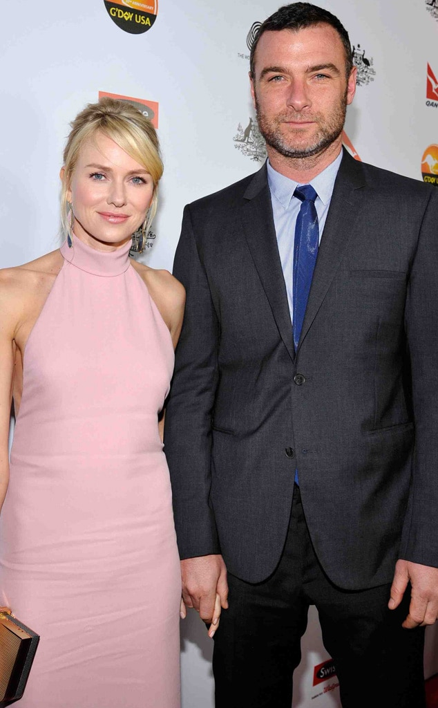 Pretty in Pink from Naomi Watts and Liev Schreiber ...