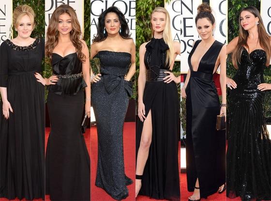 Trend Alert: Black Dresses, Sarah Hyland, Salma Hayek, Sofia Vergara, Adele, Katharine McPhee, Rosie Huntington-Whiteley